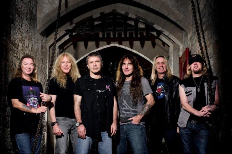 Iron Maiden, in all their aging glory.