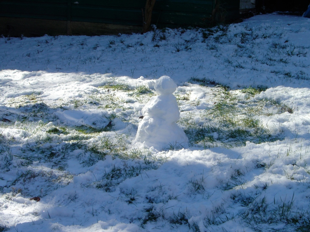 Aww…the itty-bitty snowman.