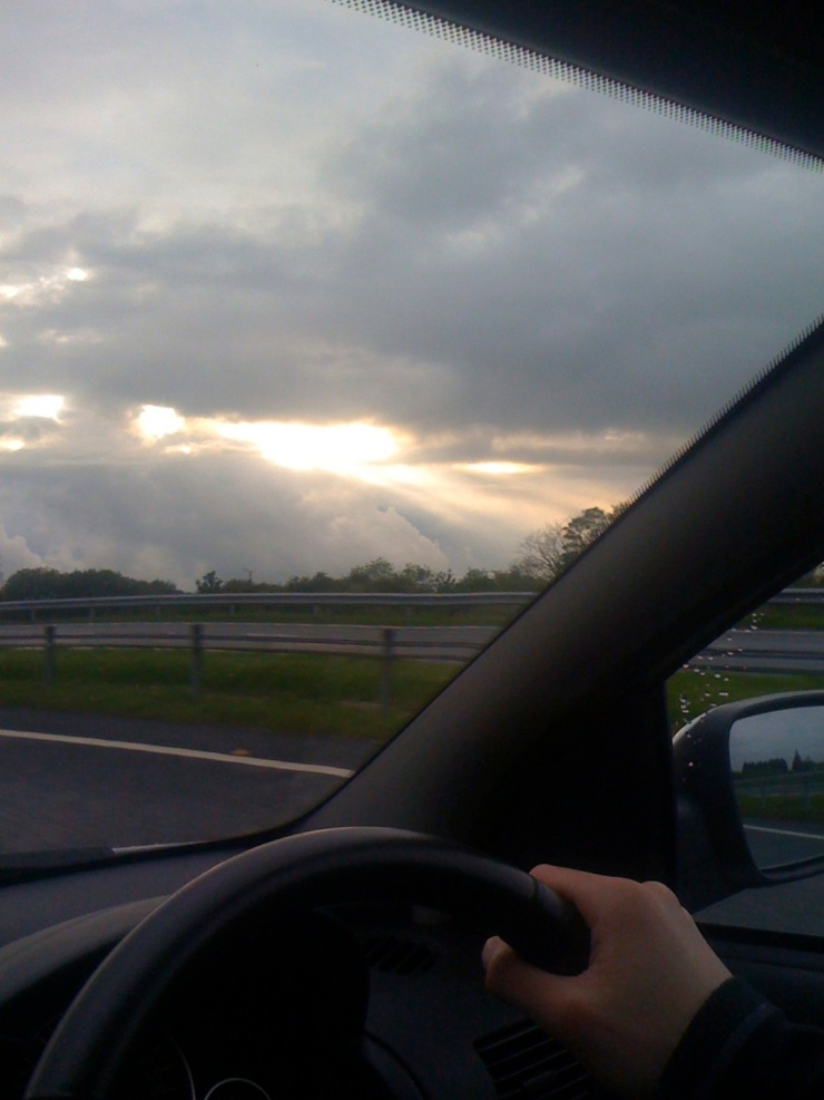 About as far as the sun gets through the clouds most days in England…
