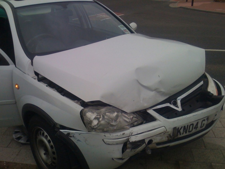 My poor baby…!