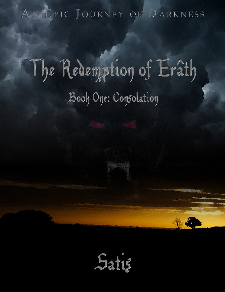 Rough draft for the front cover of The Redemption of Erâth: Consolation