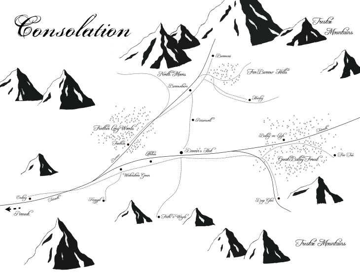 Map of Consolation, Brandyé's homeland.