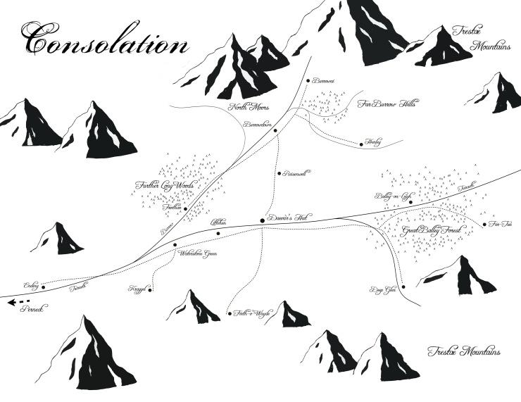 Map of Consolation, Brandyé's homeland.