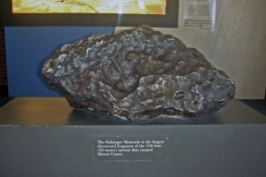 The Holsinger Meteorite, part of what blasted a half mile-wide crater in Arizona.