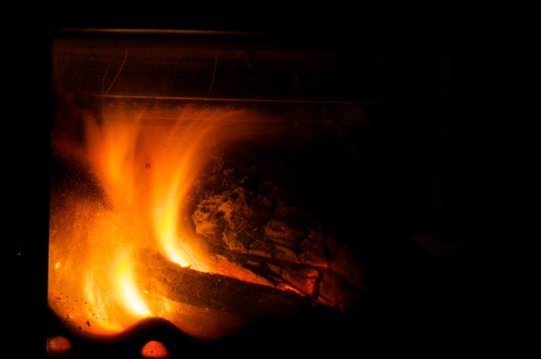 My own roaring fire.