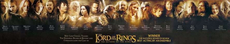 How many people were in The Lord of the Rings?
