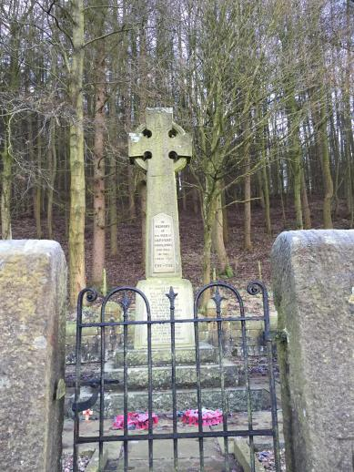 War memorial in the Upper Derwent Valley.
