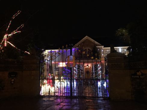 Manor Hall and their rather over-the-top Christmas lights.