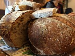Homemade sourdough bread.