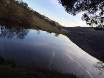 Evening over Ladybower Reservoir.