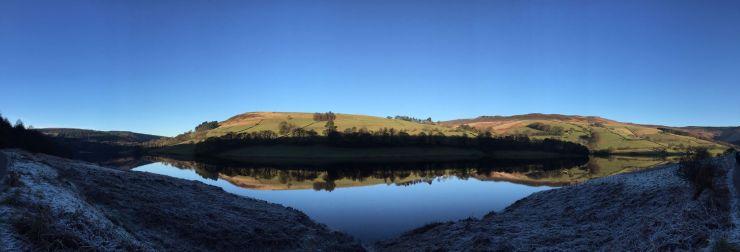 Ladybower Reservoir in the Upper Derwent Valley.