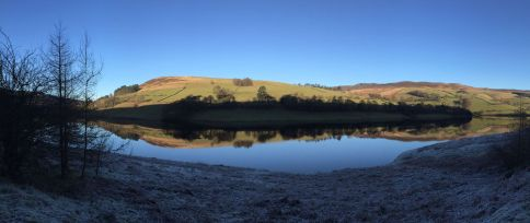 Panorama of Ladybower Reservoir.