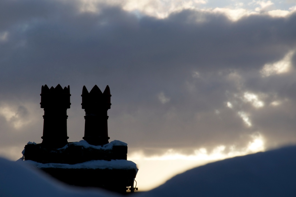 Winter chimneys.
